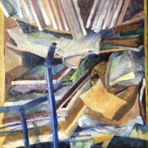 Canvases, shelves & trolley