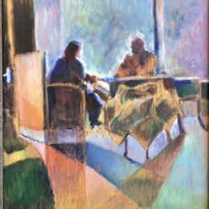 Window couple in Dutch bar